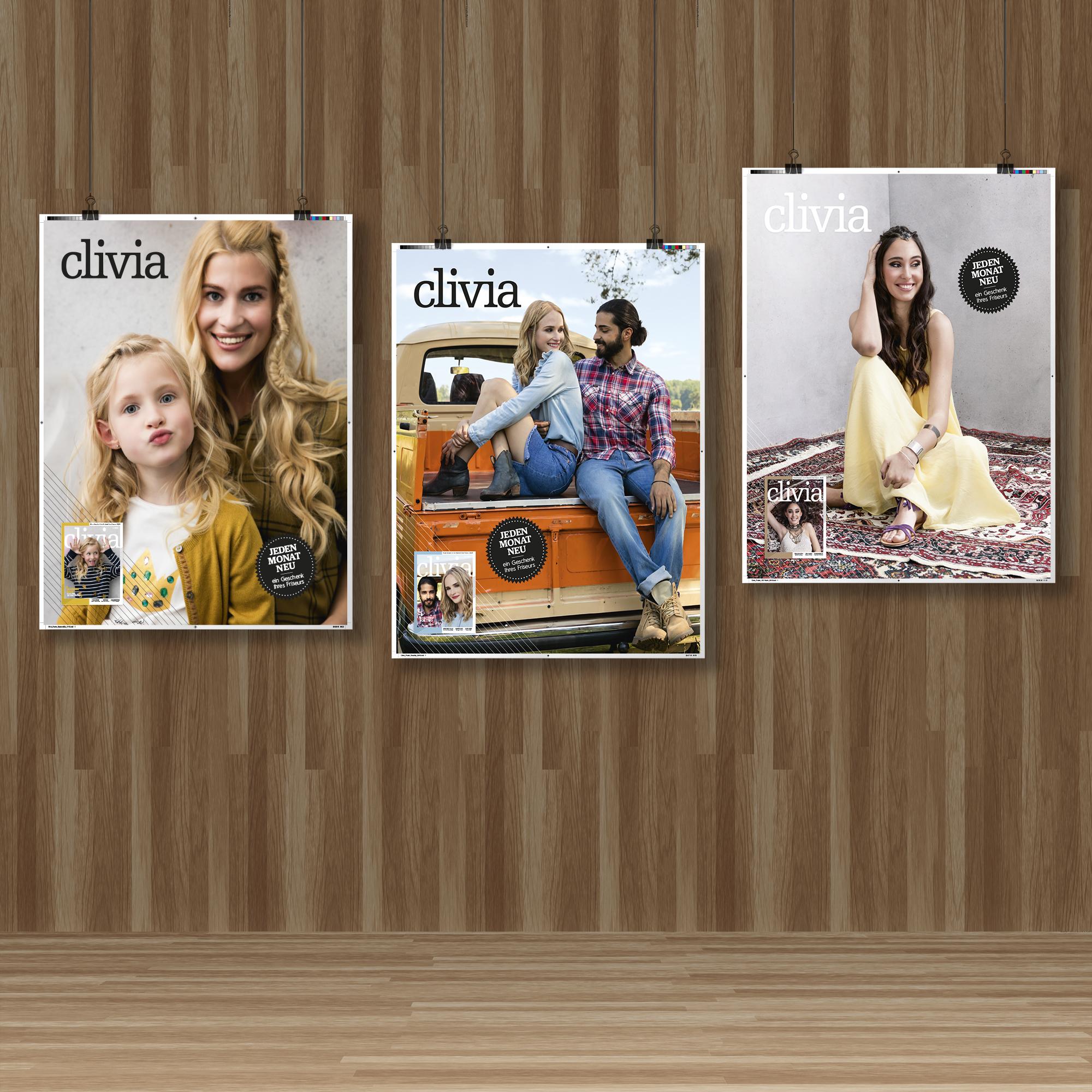 Poster Beauty Retusche Mockup Clivia Friseur Magazin