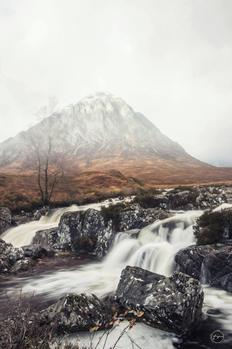Landschaftsaufnahme eines Berges für mein Portfolio