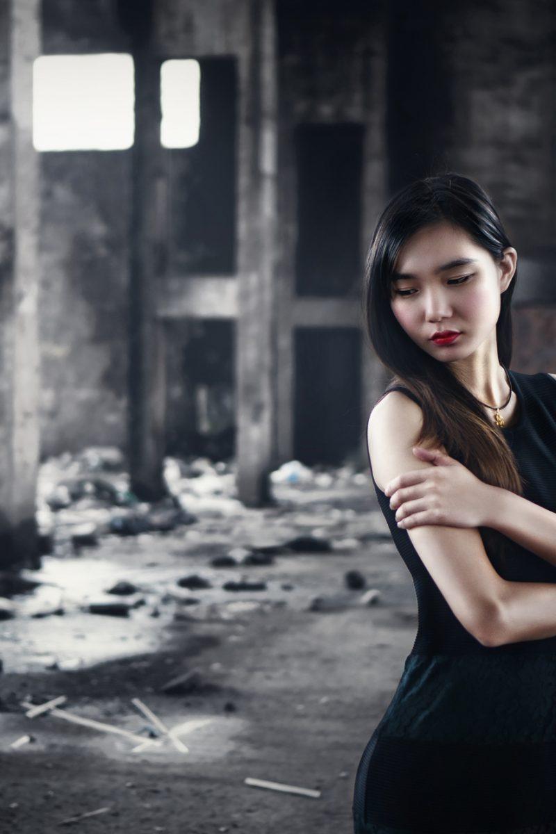 Modelshooting in Fabrikhalle